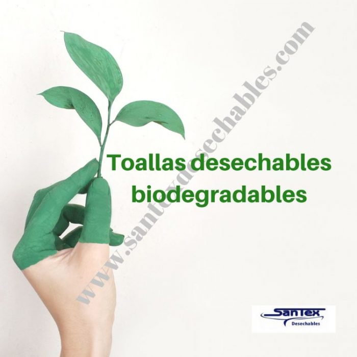 Toalla desechable biodegradables